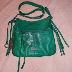 Lucky Brand turquoise green cross body with tassel